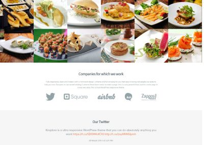 Food – Restaurant Responsive Website