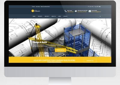 vGlacier – Construction Company Website