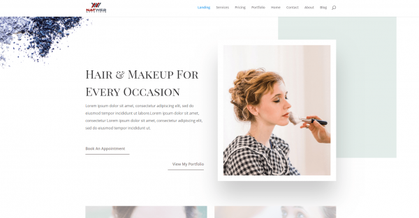 Makeup Artist website