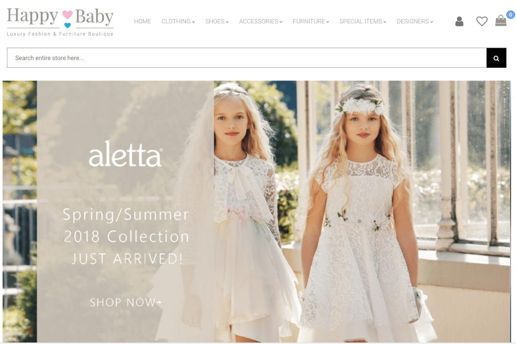 Happybaby e-commerce platform