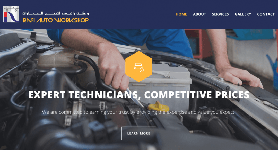 Rafiautoworkshop services website