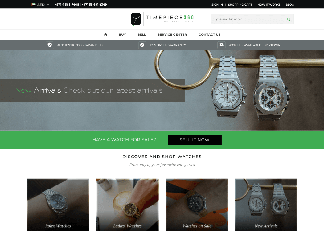 Timepiece360, experts in pre-loved watches